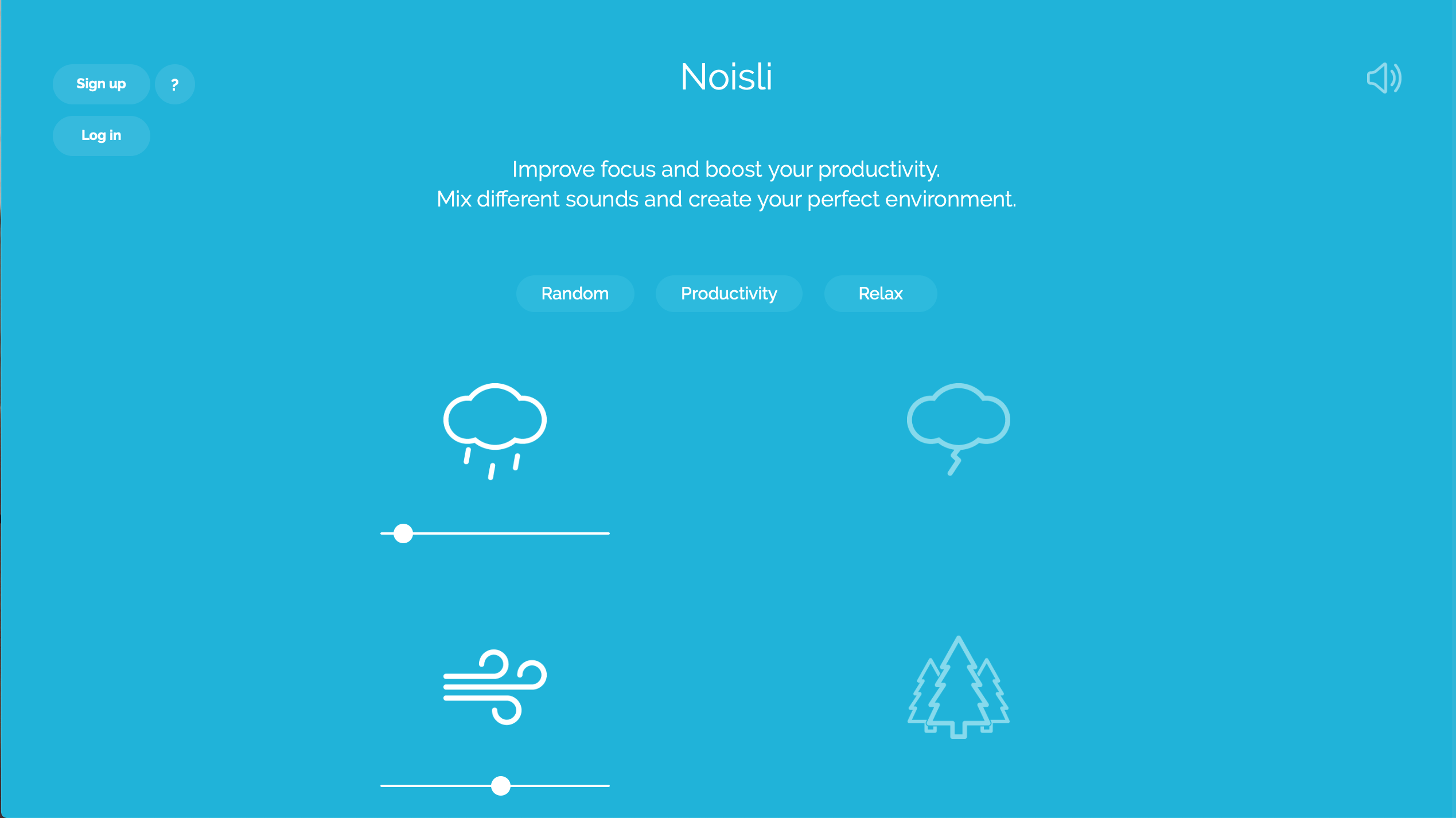Noisli offers custom background sounds to listen to while you work.