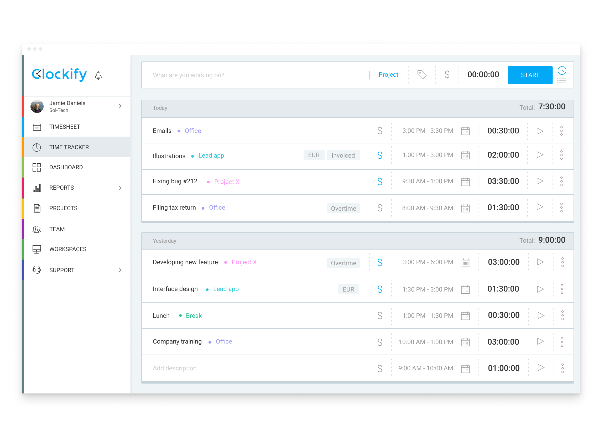 Clockify is a free time-tracking app for freelancers who charge by the hour--or anybody who wants to see where there time is going.