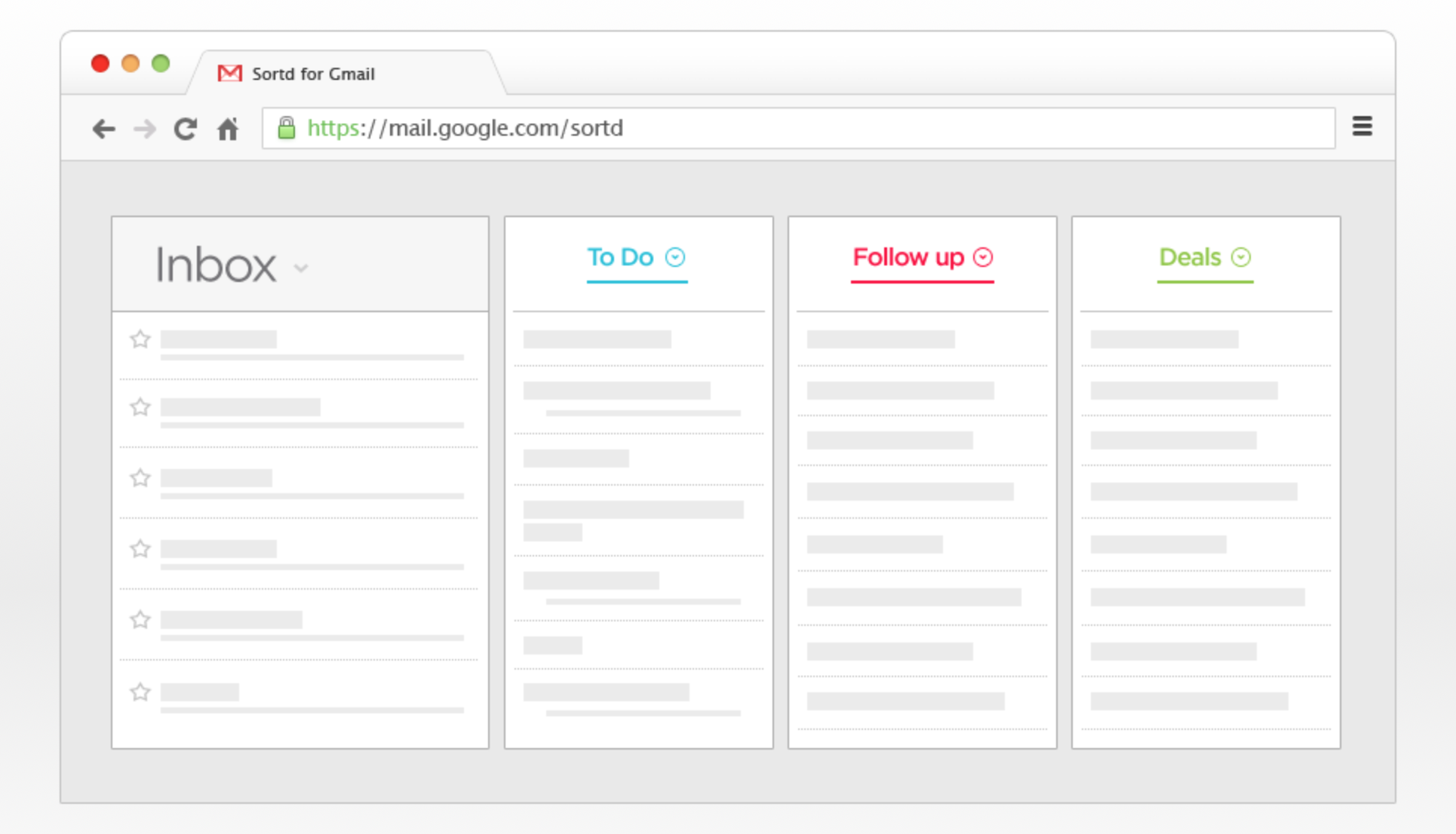 Sortd is a Gmail application that makes your inbox into a to-do list.