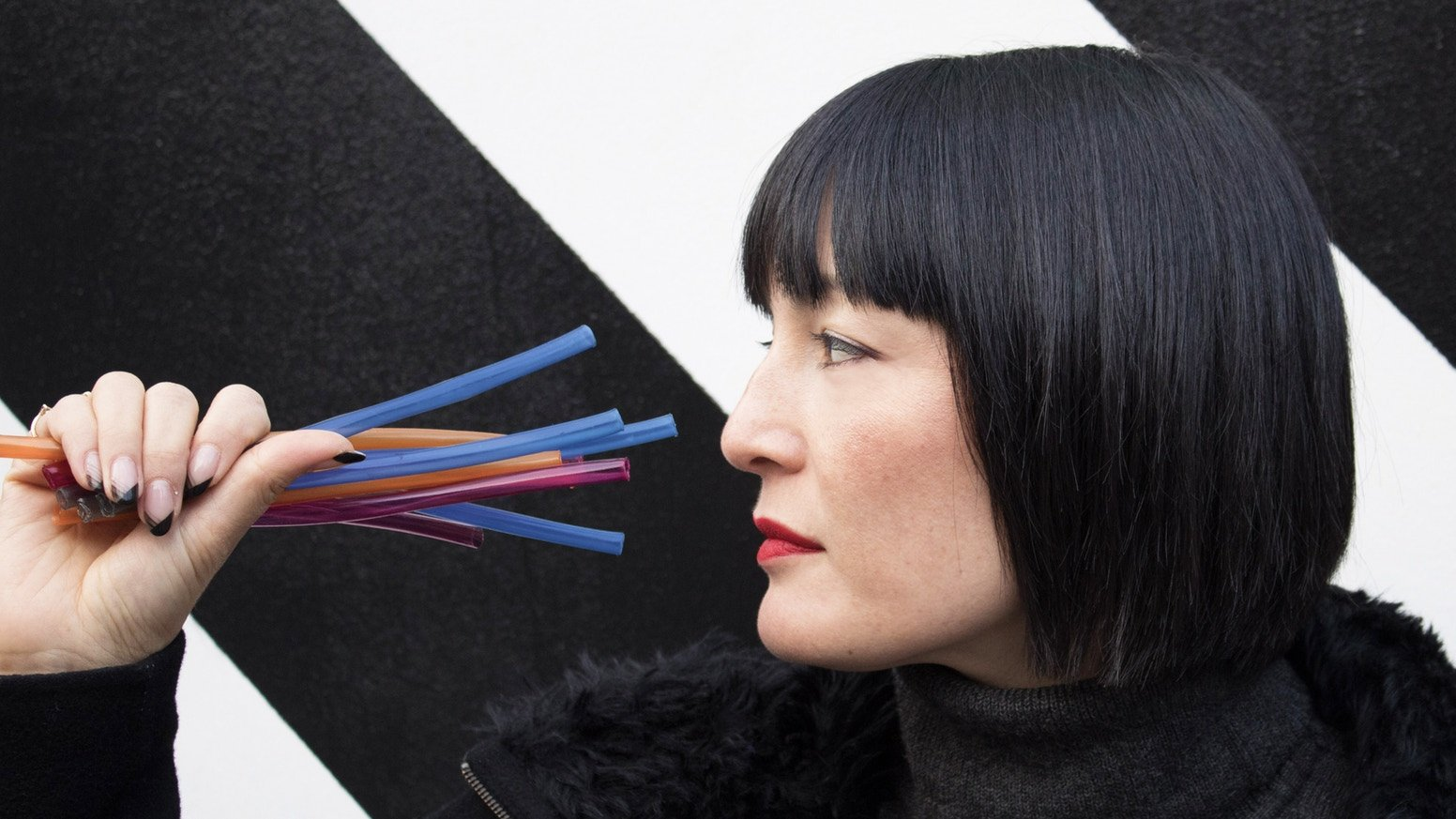 Loliware's edible straws are a biodegradable alternative to plastic.
