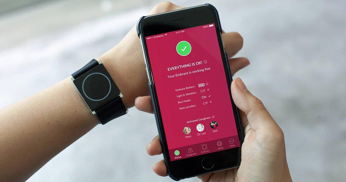 Empatica's Embrace smartwatch for epilepsy.