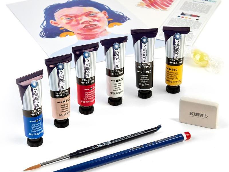 UK art supply subscription box
