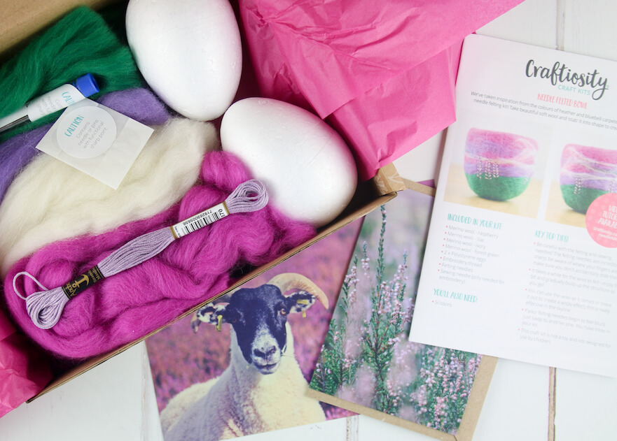 Craftiosity craft subscription box based in the UK