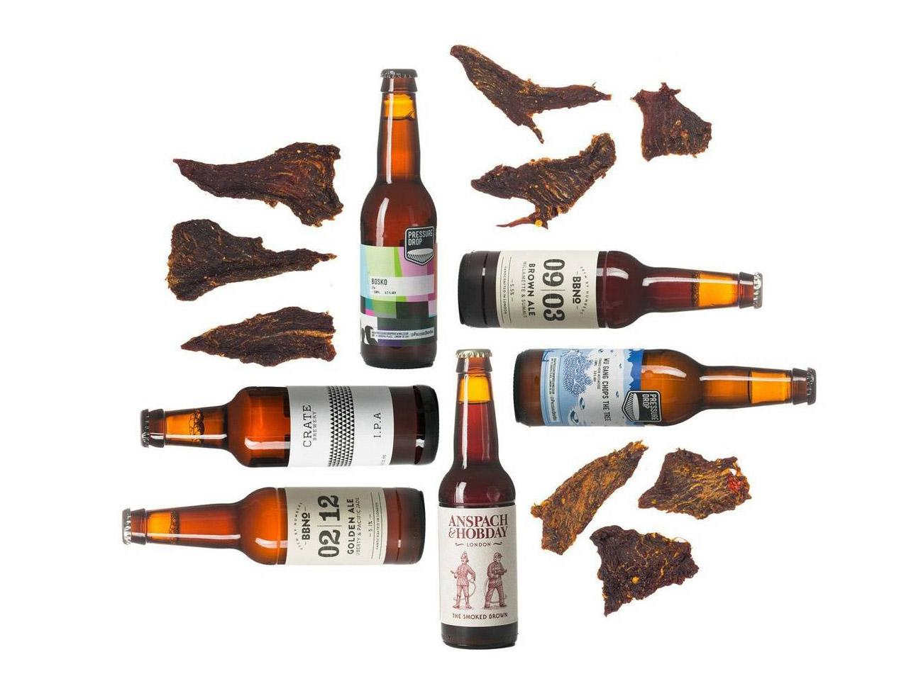Craved London beer and jerky subscription box