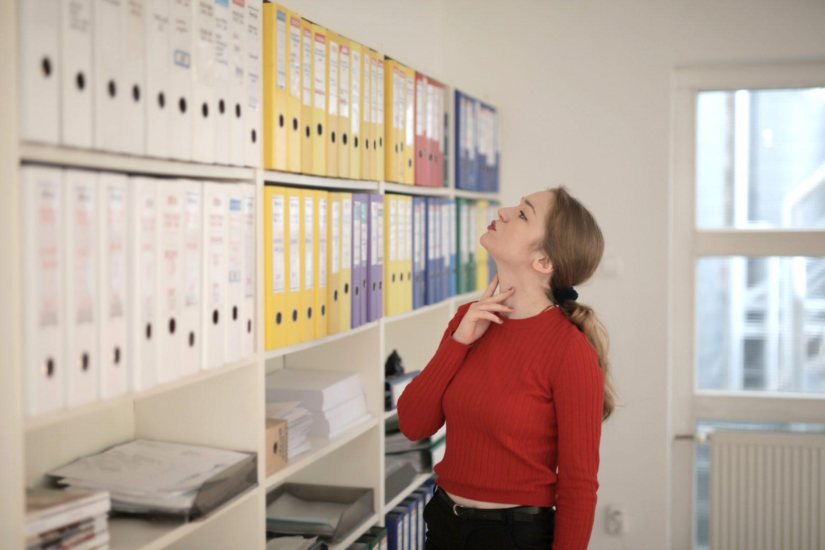 woman-looking-at-files