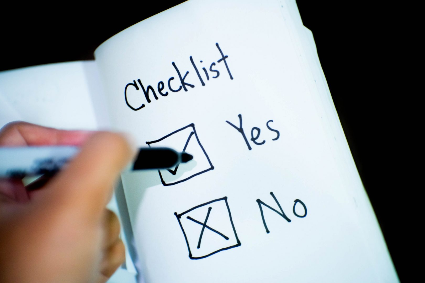 ticking-off-checklist