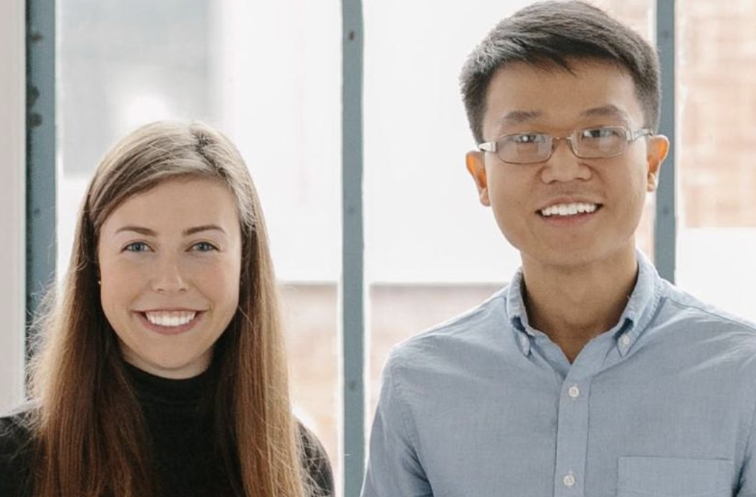 Hayley Leibson 25 and Scott Wu 22 co-founders at lunchclub