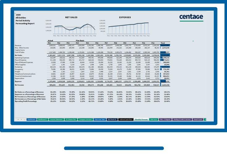 Forecasting Centage Corporation