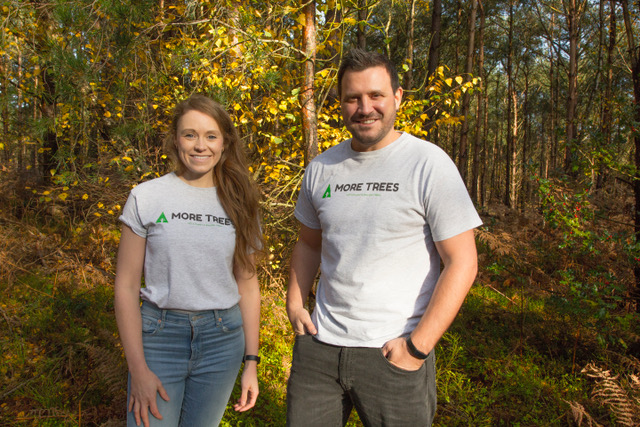 Niki Tibble and Alan Wilson, co-Founders at MoreTrees