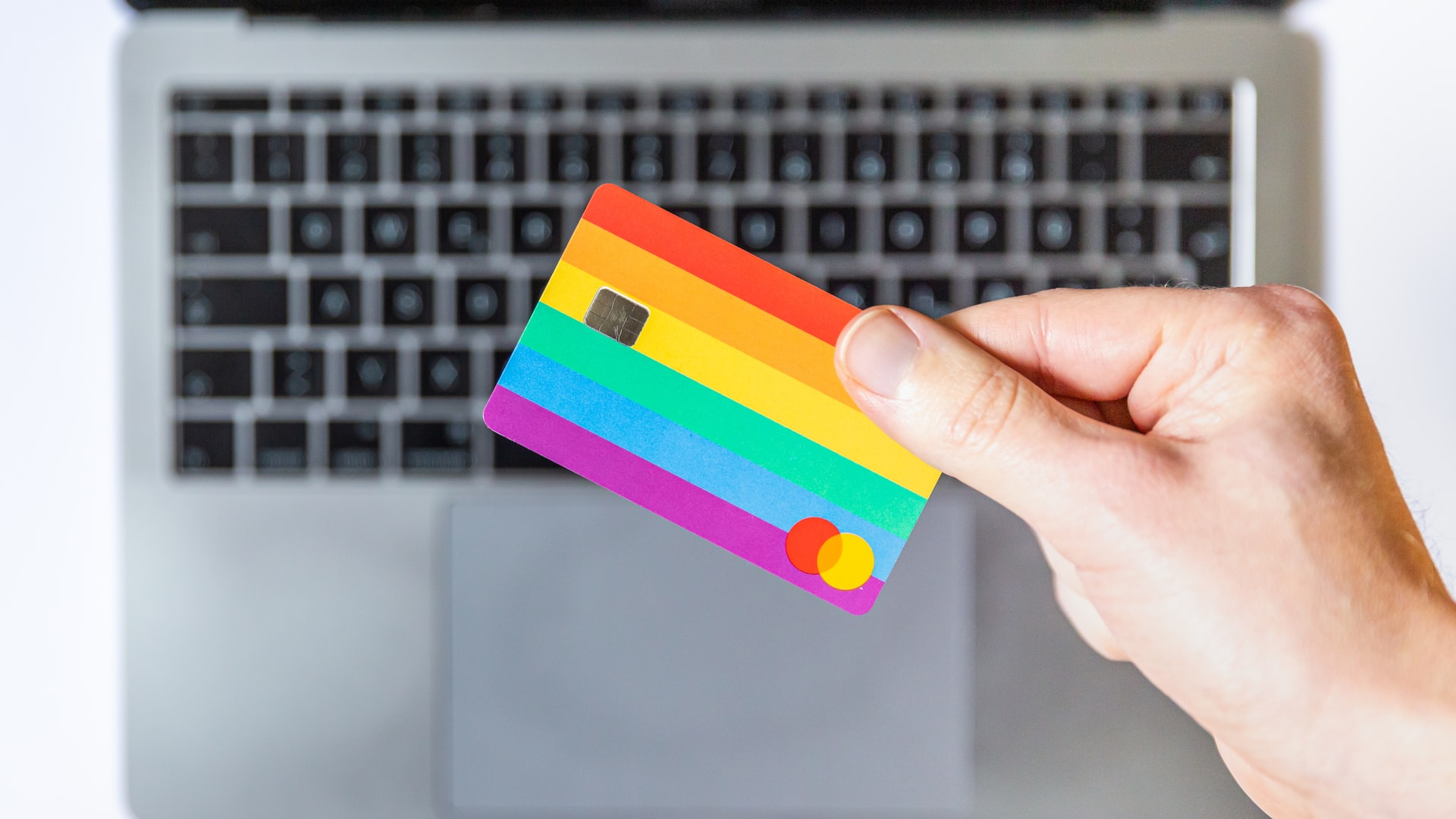 ecommerce rainbow card